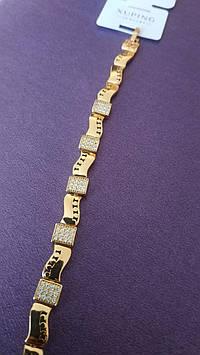Женские браслеты - бегунки Xuping, позолоченные браслеты оптом в Украине 1198