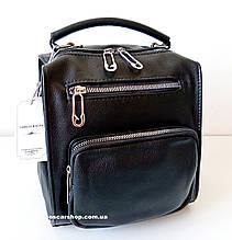 Кожаный женский рюкзак. Женская сумка. Сумка через плечо. Сумка-Рюкзак. С219