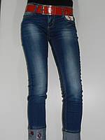 Потертые джинсы женские длина 7/8 демисезонные Vivacious 090 Турция рр. 27, 29