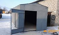 Установка железного гаража