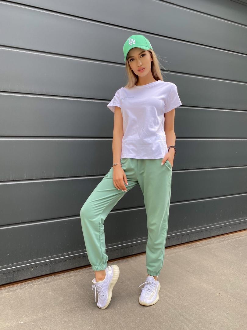 Жіночий літній спортивний костюм двійка футболка+штани