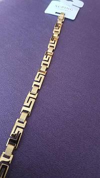 71. Позолоченные широкие браслеты Xuping. Позолоченные украшения оптом.