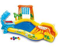Детский Надувной Игровой Центр Динозавр