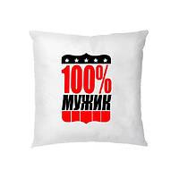 "Подушка с принтом "" 100%...."""