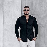 Стильная классическая мужская рубашка из хлопка, тканевые рукава - эта вещь идеально сядет на твоё тело