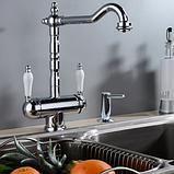 Комбінований кухонний змішувач Blue Water Польща Ricanati хром підключення фільтрованої води, фото 2