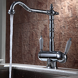 Комбінований кухонний змішувач Blue Water Польща Ricanati хром підключення фільтрованої води, фото 3