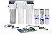 Трехступенчатая система Aquafilter FP3 под раковину Кран вентиль ОРИГИНАЛ, купить