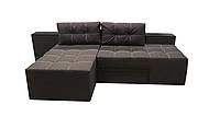 Угловой диван Трансформер спальный, диван кровать трансформер для ежедневного сна РЕЛАКС Коричневый, фото 1