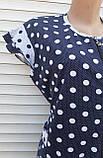 Трикотажний халат з узбецької бавовни 58-60 розмір Горошки, фото 7