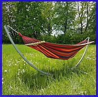 Гамак подвесной тканевый с планкой, гамак для отдыха, садовый гамак 100см
