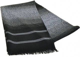 Мужской шерстяной шарф 180 на 43 см 50149-19 Серый