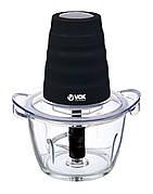 Измельчитель (чоппер) электрический VOX MC7002 1 л 300 Вт Стеклянная чаша Черный / Прозрачный