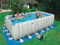 """Каркасный бассейн """"Intex 54982"""" с песочным фильтром. Бассейн дополнен насосом, тентом и прочими аксессуарами."""