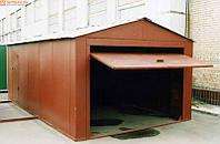 Монтаж металлического гаража