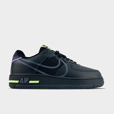 Мужские кроссовки Nike Air Force 1 React Heren черного цвета Низкие кеды Повседневные Найк Аир Форс 1