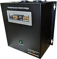ИБП Logicpower LPY-W-PSW-1000+ (700Вт), для котла, чистая синусоида, внешняя АКБ, фото 1