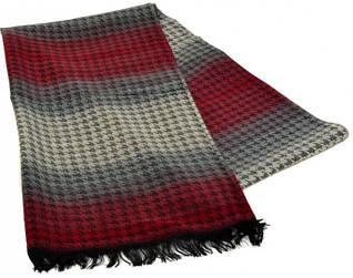 Яркий шерстяной мужской шарф 180 на 43 см 50149-20