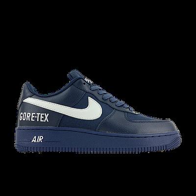 Мужские кроссовки Nike Air Force 1 Low Gore-Tex Blue синего цвета Низкие кеды Повседневные Найк Аир Форс 1