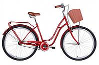 "Женский Велосипед ST 28"" Dorozhnik OBSIDIAN рама-19,5"" с багажником зад St, с корзиной Pl 2021"