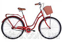 """Жіночий Велосипед ST 28"""" Dorozhnik OBSIDIAN рама-19,5"""" з багажником зад St, з кошиком Pl 2021"""