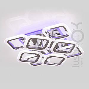 Люстра светодиодная потолочная хром Светодиодная люстра с пультом