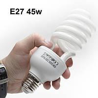 Лампа флуоресцентна для фото 45W 5500K E27 Лампа постійного світла