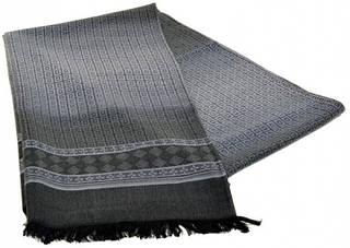 Мужской шерстяной шарф 180 на 43 см 50149-21 серый