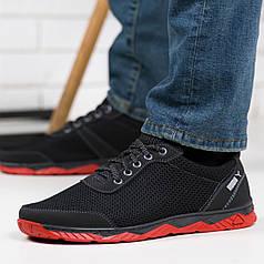 Кросівки чоловічі сітка з червоною підошвою 40,43р
