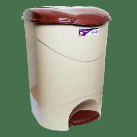 Ведро для мусора с педалью Irak Plastik Bella №3 30л бежевое