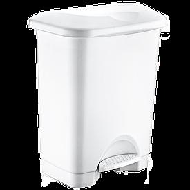 Ведро для мусора с педалью Irak Plastik Stella 45л белое