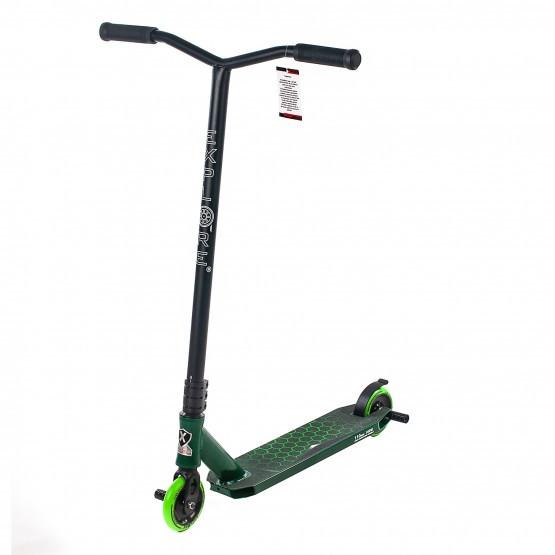 Самокат трюковый Explore CROSS DELUXE II зеленый (колеса металл, HIC, 1 пега)