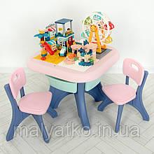 *Комплект меблів з конструктором (столик + 2 стільчика) TM Bambi арт. 19102-8