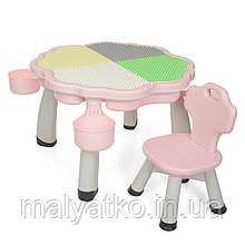 *Комплект мебели для сборки конструктора (столик+стульчик) TM Bambi арт. 2020-3-8