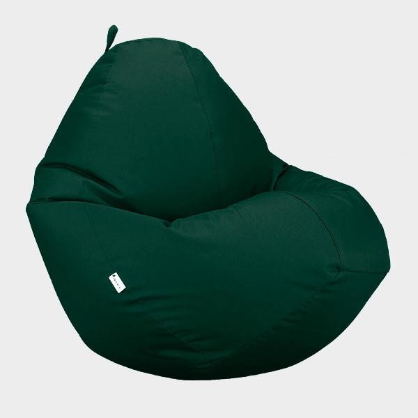 Крісло мішок Овал Beans Bag Оксфорд Стронг 85*105 см Колір Темно Зелений