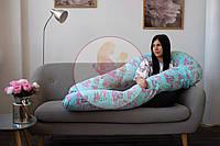 Подушка для беременных с ЧЕХЛОМ, Подушка у-образная, подушка для кормления 120*75