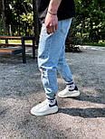 Джинсы - Мужские голубые джинсы / чоловічі джинси голубі з нашивками, фото 2