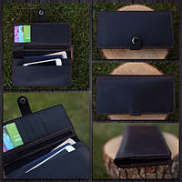 Кожаный кошелек черный