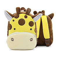 Плюшевый детский рюкзак Жирафик