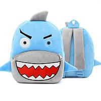 Плюшевый детский рюкзак Акула