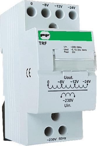 Трансформатор понижающий модульный TRF 8 Вт 230/ 8-12-24