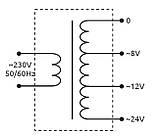 Трансформатор понижающий модульный TRF 8 Вт 230/ 8-12-24, фото 3