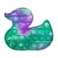 """Игрушка-антистресс """"POP-IT"""" PPT-D(Violet-Green) Уточка Фиолетово-Зелёный"""