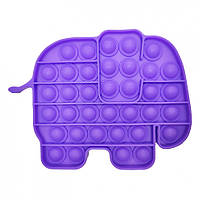 """Игрушка-антистресс """"POP-IT"""" PPT-E(Violet) Слон Фиолетовый"""