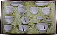 """Чайный сервиз фарфоровый 15 предметный с круглыми чашками """"Снежная Королева"""""""