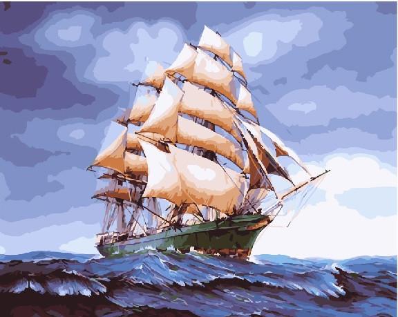 Бригантина в буйном море