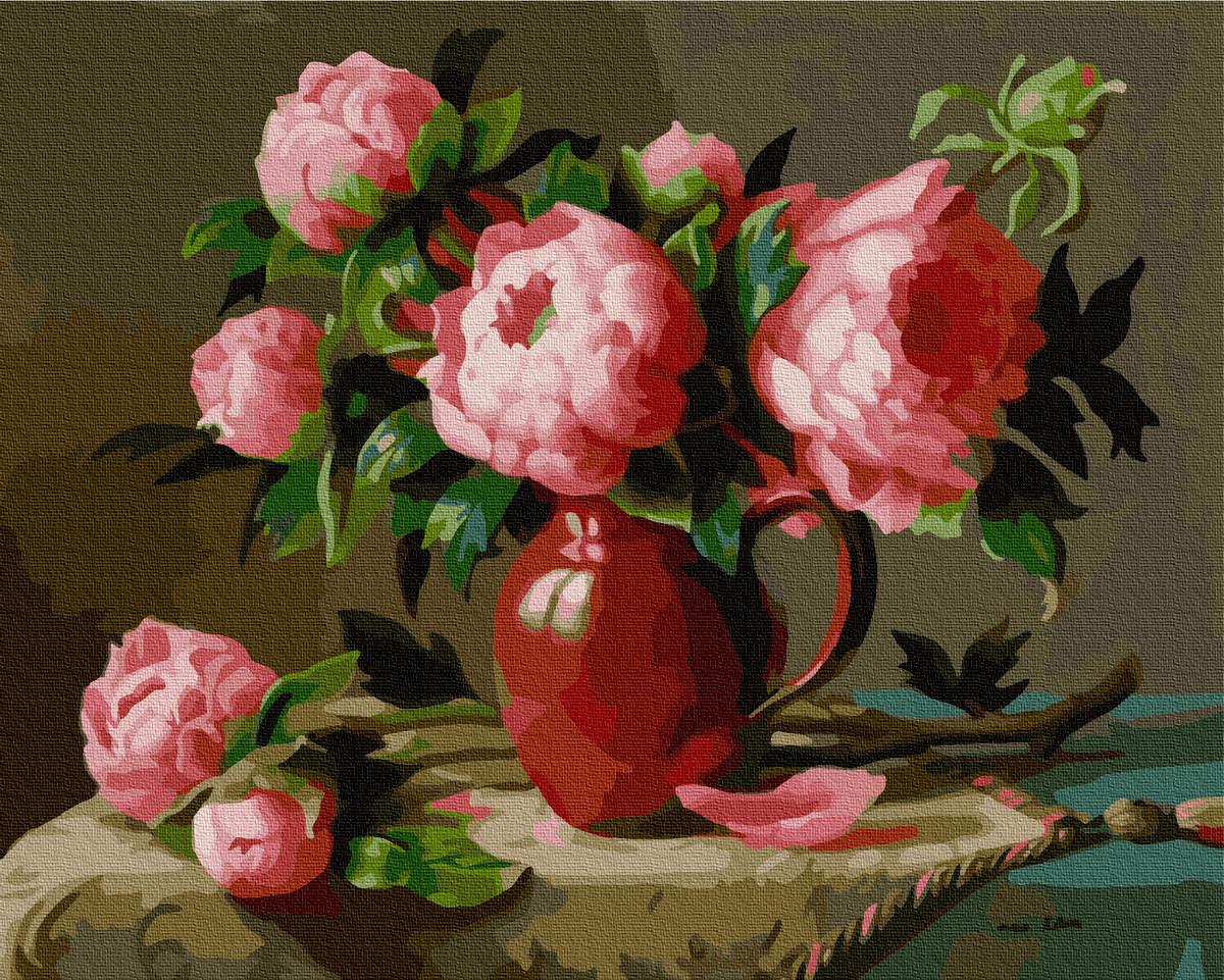 Рожеві садові півонії