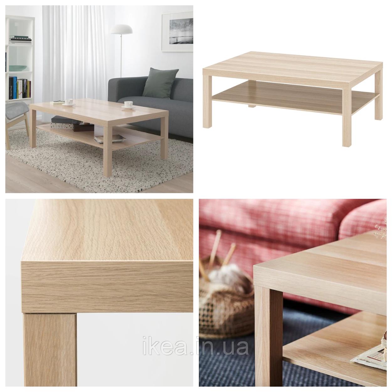 Журнальний столик IKEA LACK 118x78 см під дуб ІКЕА ЛАКК кавовий стіл прямокутний