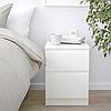 Комод з 2 шухлядами 35x49 см IKEA KULLEN біла тумбочка у вітальню або спальню (нічна) ІКЕА КУЛЛЕН, фото 2