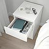 Комод з 2 шухлядами 35x49 см IKEA KULLEN біла тумбочка у вітальню або спальню (нічна) ІКЕА КУЛЛЕН, фото 3